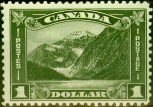 Canada 1930 $1 Olive-Green SG303 Very Fine Lightly Mtd Mint