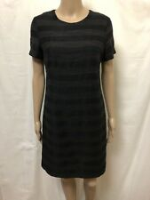 GORMAN DRESS WOMENS ~ SIZE 8 ~ HORIZONTAL STRIPES SHORT SLEEVES BACK ZIPPERED