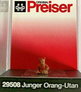 "Preiser 29508 Spur H0 Einzelfigur, ""Junger Orang-Utan"" #NEU in OVP#"