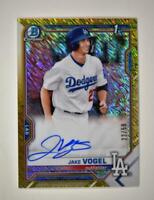 2021 Bowman Chrome Prospects Auto Gold Shimmer Refractor Jake Vogel /50 - Dodger