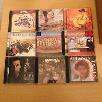 Mix Lot Of 9 Country CDs Garth Brooks Alabama Shania Twain Kid Rock