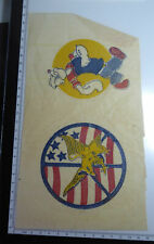 Vintage 1970s Iron On Transfer Sheet 2 Transfers Peace American Eagle Popeye