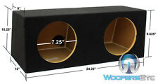 "DUAL 8"" HB28 MDF WOOD SEALED ROUND SUBWOOFERS SPEAKERS ENCLOSURE BASS BOX NEW"