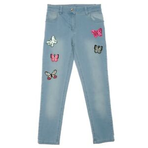 Girls Pant With Butterfly Patch 8 - 9 - 10 - 11 - 12 Years Old