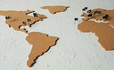 Cork Board Map of the World and Pins