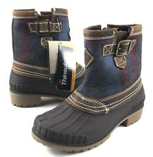 KAMIK Womens Duck Boots Avelle Waterproof Size 6 Dark Brown Leather NWT NK2024