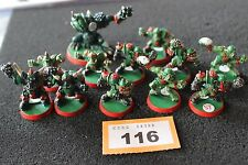 Games Workshop BloodBowl Orcos equipo orcland Raiders Metal Pintado Blood Bowl Lote