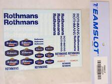 P00017 Team Slot-Rothmans-hoja de calcomanías-nuevo y menta