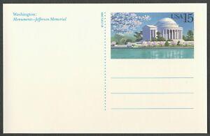 #UX144 15c Jefferson Memorial, Mint ANY 4=
