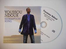 YOUSSOU NDOUR : REDEMPTION SONG ♦ CD SINGLE PORT GRATUIT ♦
