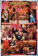 Rare David Lee Roth Van Halen 1986 Vintage Orig Big Door Size Music Poster