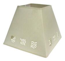 moderne 30.5cm Vague pochoir Lampe Plafonnier suspendue abat-jour de lampe crème