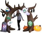 8 FT Halloween Inflatable Scary Tree Archway with Build-in LEDs Blow Up NEW