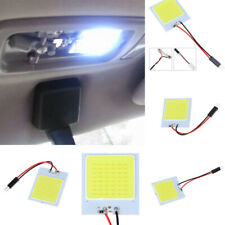 1x T10 Adapter 48SMD COB LED Car Interior Panel Dome Light Lamp Bulb Accessories