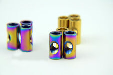 2x M6 Cylindrical Titanium Nuts For bicycle Seatpost Bolts DIA9/10mm x L 18/20mm
