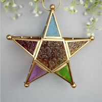 Wall Hanging Tealight Candle Holder Star Lantern for Wedding Holiday Decor