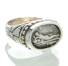 SeidenGang Solid 925 Sterling Silver & 18K Gold Ring Sz-7 '