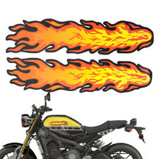 Novelty Modified Motorcycle Waterproof Decorative Red Flame Fire Decal Sticker
