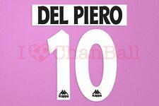 Del Piero #10 1996-1997 Juventus Homekit Nameset Printing