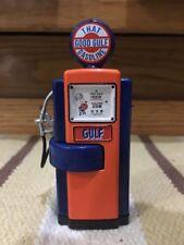 Gulf Gas Pump Miniature Display Good Gulf Vintage Style Globe Oil Decor Sign