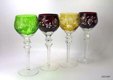 AJKA MARSALA or NACHTMANN TRAUBE Cased Cut Crystal TALL HOCK WINE GLASS