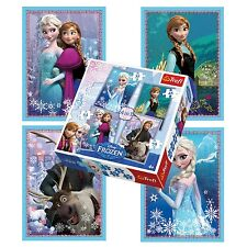 Trefl 4 In 1 35 + 48 + 54 + 70 Piece Girls Kids Anna Elsa Frozen Jigsaw Puzzle