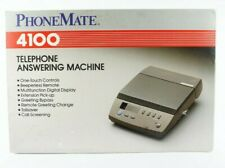 New PhoneMate 4100 Dual Cassette Analog Telephone Answering machine With ADAPTER