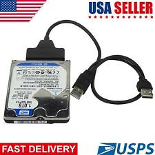 Dual USB 2.0 to SATA 15+7 Pin Data Power Cable Connector 2.5″ HDD SSD Transfer