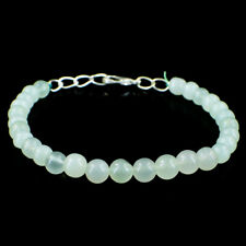 """7.5-8/"""" SOLID 925 SILVER BRACELET NATURAL MULTI AQUAMRINE BEADS FACETED #853"""