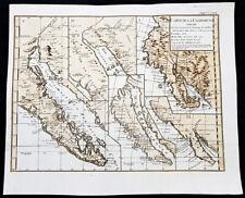 1770 De Vaugondy & Diderot Antique Maps of Cartographical Views of California