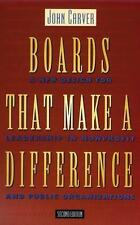 Boards That Make a Difference: A New Design for Leadership in Nonprofit and