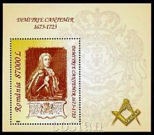 2004 Prince Cantemir,Masonic,Freemason,Masonry,Freimaurer,Romania,Bl.347,MNH