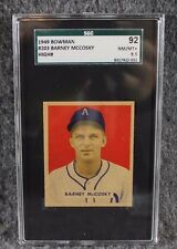 Vintage Baseball Card 1949 Bowman SGC 92 NM/MT+ 8.5 Barney Mccosky Only 2 Higher