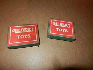 2 A C Gilbert Erector Gilbert Toys Small Parts Boxes,  Teen's Vintage, Original