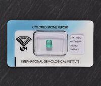 Smaragd mit Echtheitszertifikat 0,92 Karat, Natur Edelstein in versiegelter Box