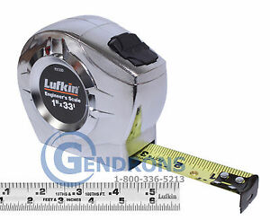 33' LUFKIN P2133D 10TH / INCH TAPE MEASURE,SURVEYING,ENGINEERING,TOPCON,SOKKIA