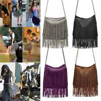 Celebrity Woman Velvet Tassel Fringed Shoulder Messenger Bag Handbag 6 color