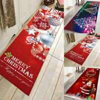 Christmas Door Mat Non-slip Floor Mat Hallway Kitchen Room Carpet Home Decor