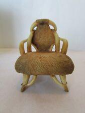 Vintage 1999 Take a Seat by Raine Dollhouse Miniature Longhorn Chair c.1930