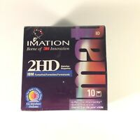 Imation 10 Pack 3.5 inch Formatted Diskettes 1.44 MB IBM SEALED