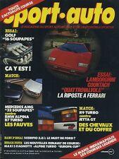 SPORT AUTO n°282 07/1985 24h du MANS INDY COUNTACH ALPINA B7 AVEC ENCART& POSTER