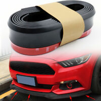 Black Universal Car Rubber Bumper Lip Splitter Body Spoiler Protector 2.5M x 6CM