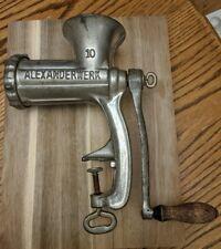 Vintage Alexanderwerk Germany  Meat Grinder #10 cast iron