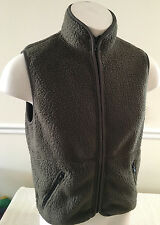J. Crew Green Fleece Vest Full-Zippered Men's XS