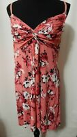 apt. 9 Brand Women's Dress Size Large Pink Floral Rayon