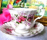 Royal Albert Lavender Rose Teacup and Saucer, Pink Rose Tea Cup Set