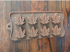 Cannabis Marijuana Pot Weed Leaf Shape Silicone Ice Cube Mold Mould Tray 2 pack