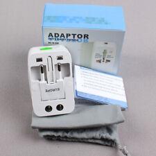 New -Li US to EU UK AU & Universal AC Power Plug World Travel Adapter Converter