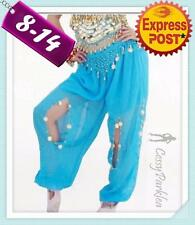Belly Dance Harem Pants Bollywood Dancing Costume Red Hot Pink White Blue Purple