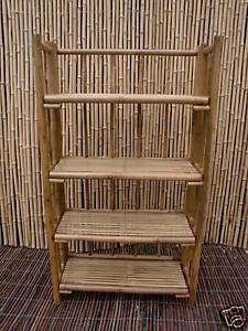 Bambusregal Bücherregal Bambusmöbel Schuhregal Wandregal Regal Bambus 120 cm